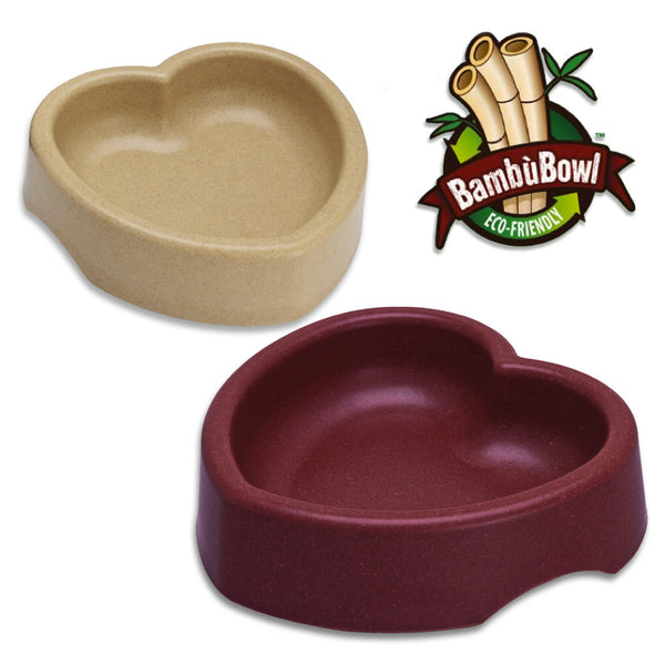 Eco Friendly Heart Shaped Dog Dish, Dish, BL, Small Dog Mall - Good things for little dogs.  - 1