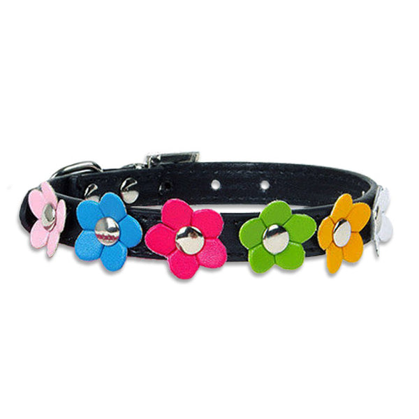 Pretty Flowers Small Dog Collar