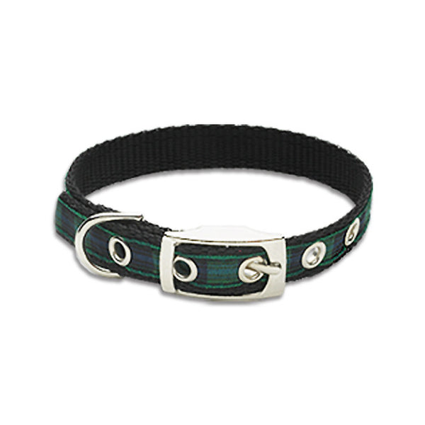 Blackwatch Plaid Small Dog Collar