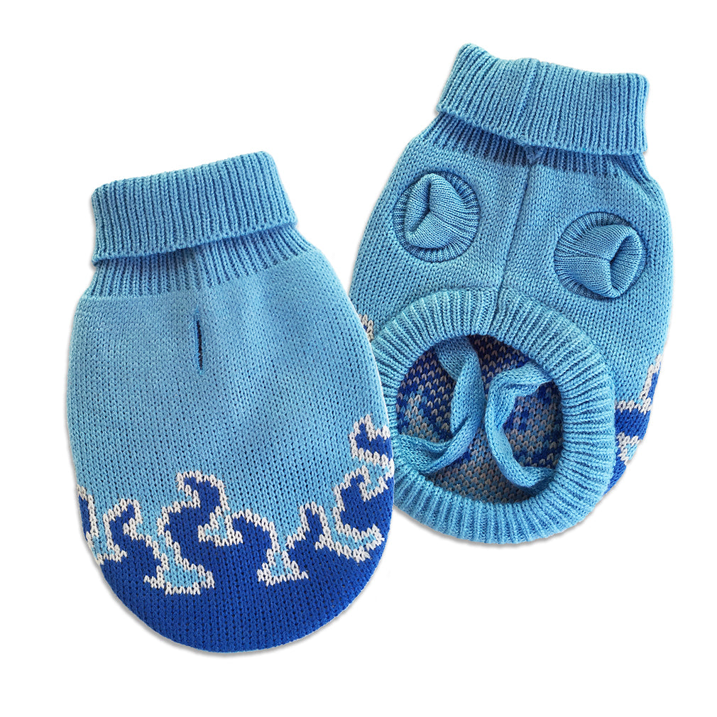 Sizzling Blue Flame Small Dog Sweater