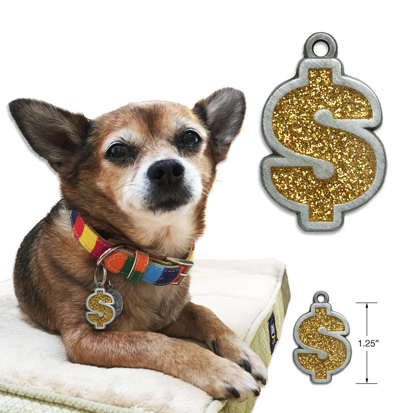 Show Me The Money Small Dog ID Tag