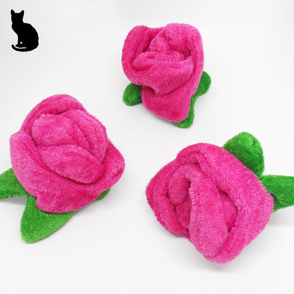 Pink Rose Bud Cat Toy