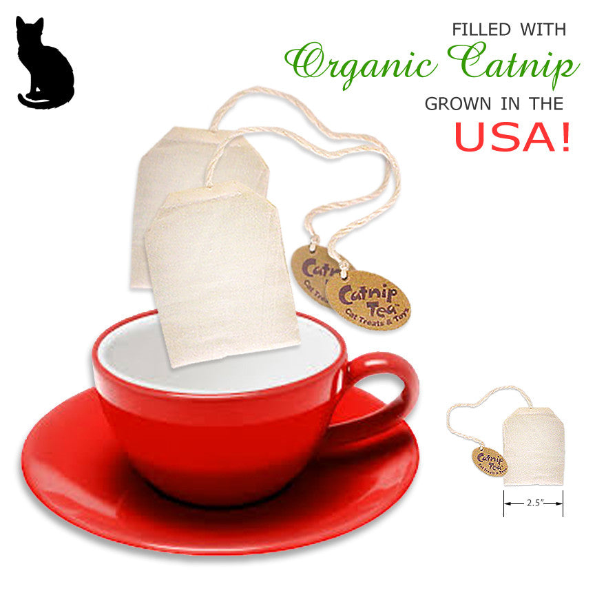 Organic Catnip Tea Bag Cat Toy