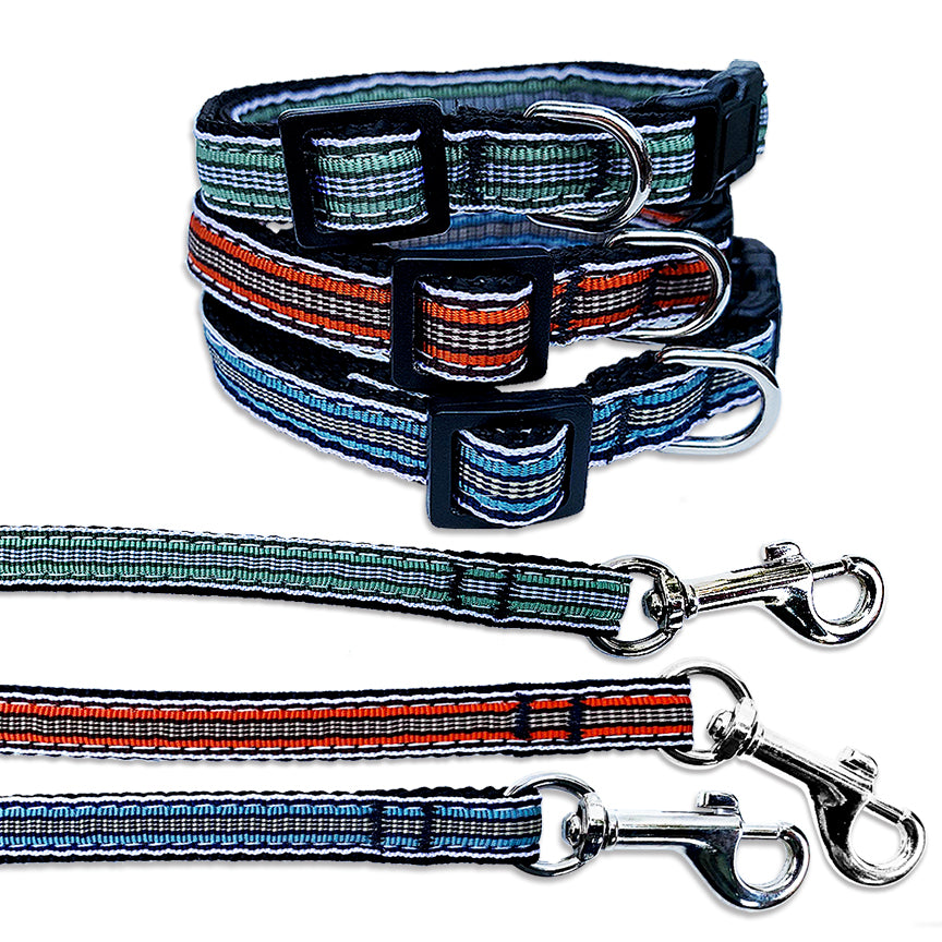 Yipes! Stripes Ribbon Small Dog Collars