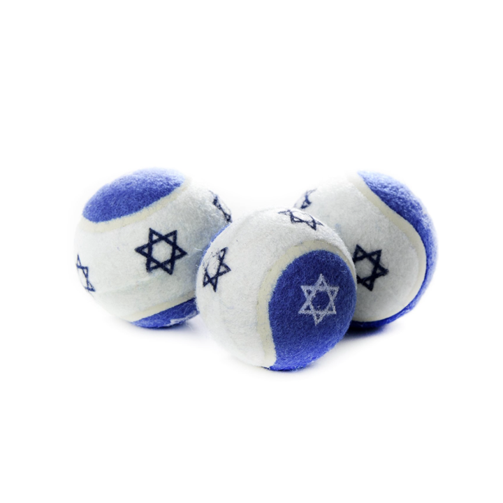 Star of David Tennis Ball Dog Judaica Toy