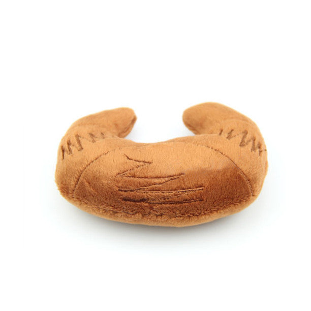 Plush Croissant Small Dog Toy, Toy, Small Dog Mall - Good things for little dogs., Small Dog Mall - Good things for little dogs.  - 1