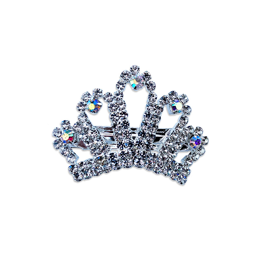 Crystal Crown Dog Hair Barrette