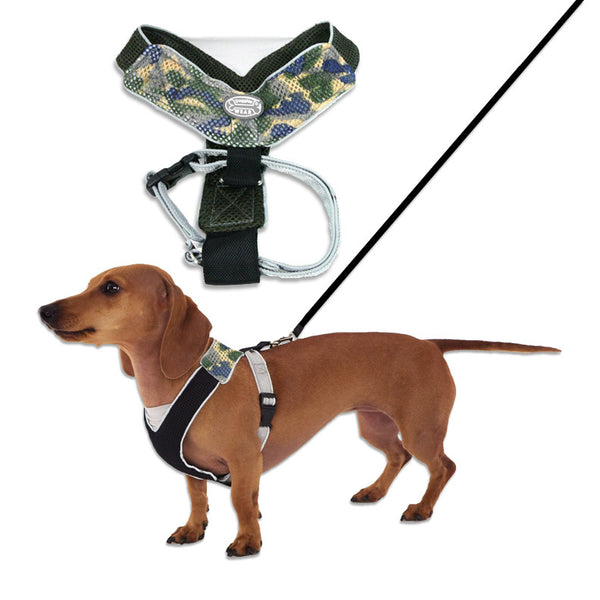 Small Dog Mall, Doggles V-Mesh Dog Harness Camo Style for Small Dogs
