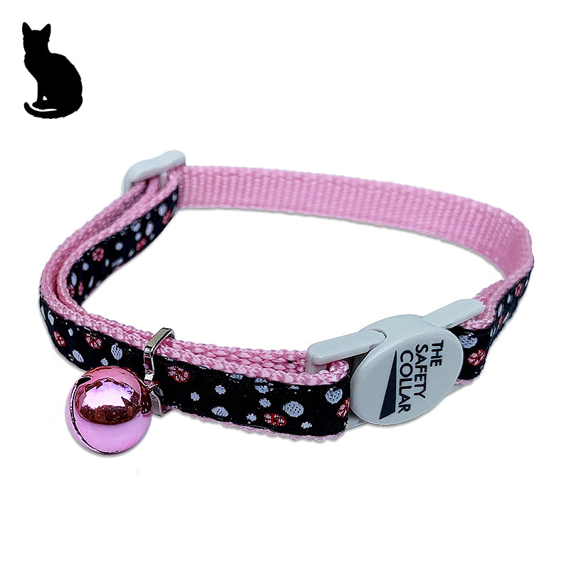Polka Dots and Teeny Weeny Flowers Cat Collar