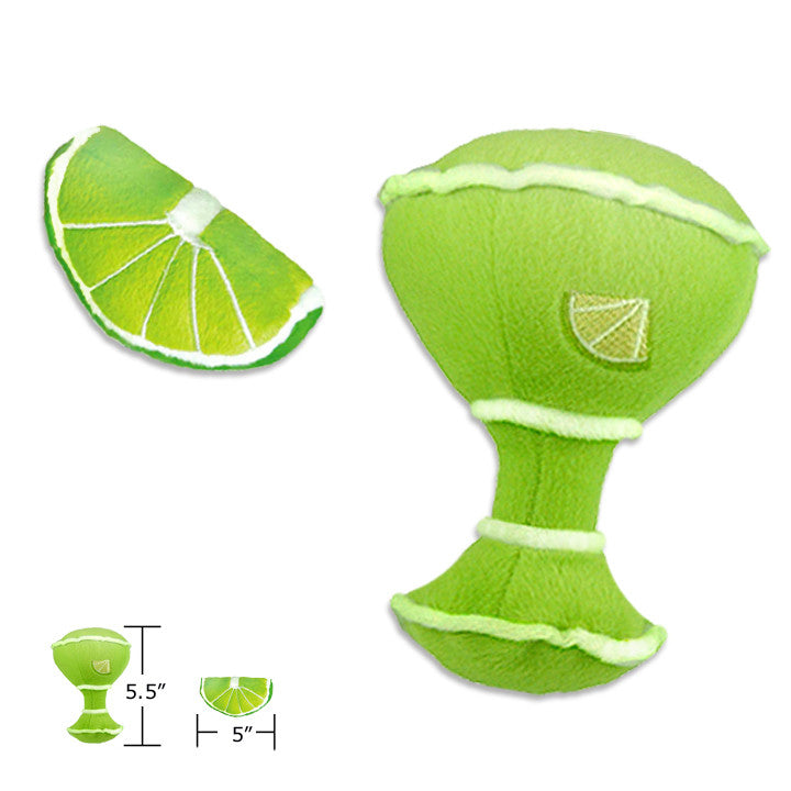 Margarita and Lime Wedge Small Dog Toy, Small Dog Mall