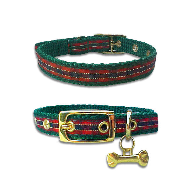 Christmas Plaid Dog Collar, , Christmas, Small Dog Mall, Small Dog Mall - Good things for little dogs.