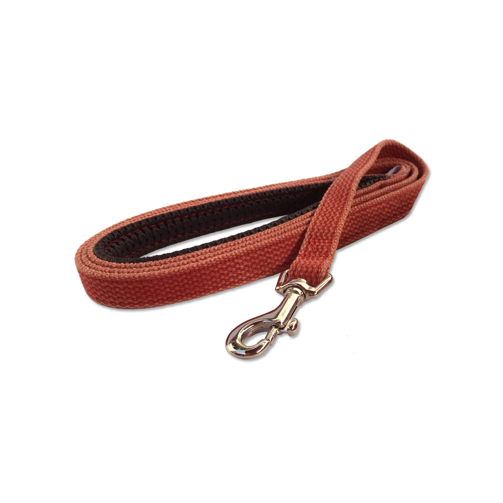Red Denim Small Dog Leash