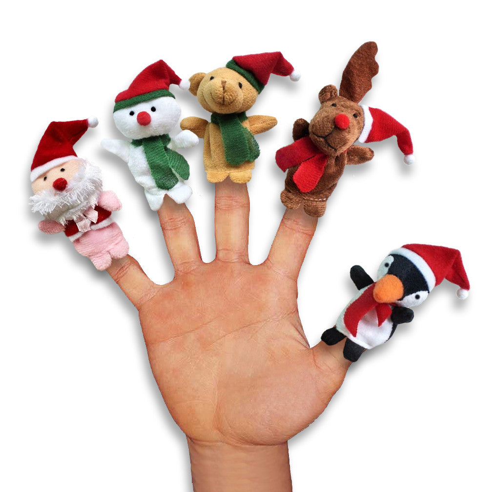 Christmas Finger Puppet Dog Toys, , Christmas, Small Dog Mall, Small Dog Mall - Good things for little dogs.  - 1