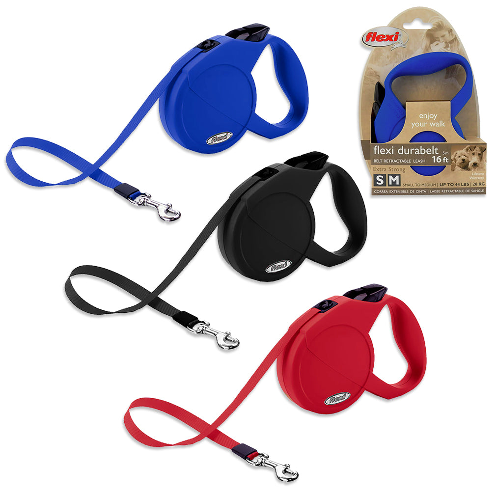 Flexi Dura Belt Retractable Small/Medium Dog Leash