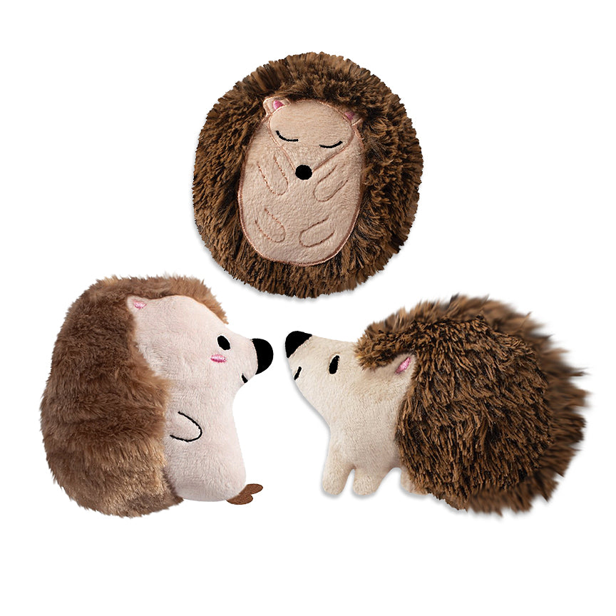 Adorable Mini Hedgehug Trio Small Dog Toy