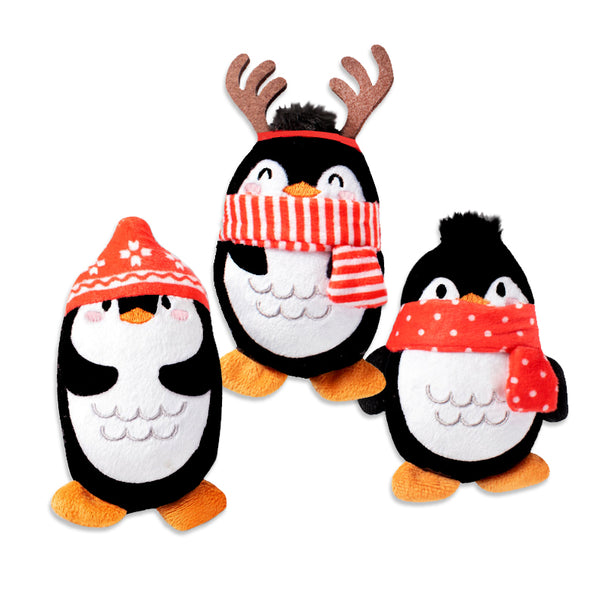 Adorable Mini Penguin Trio Small Dog Toy