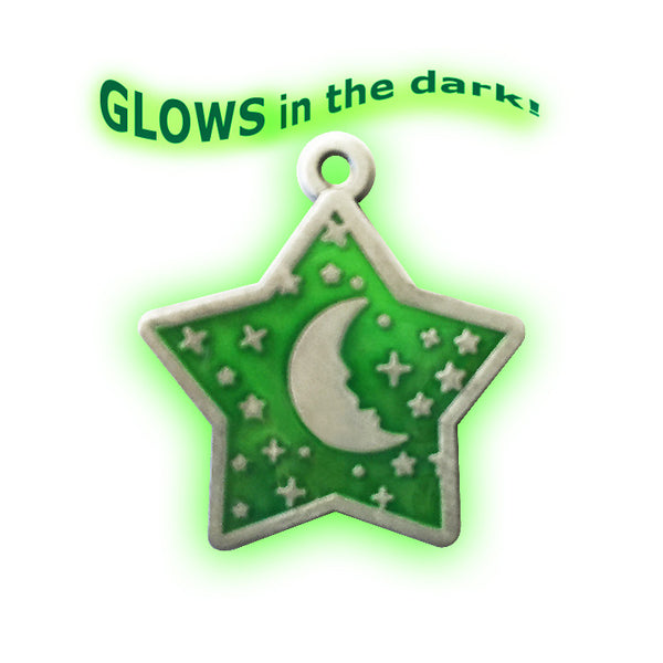 Glows-In-The-Dark Goodnight Moon Small Dog ID Tag