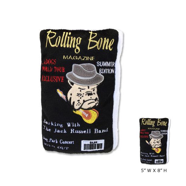 Rolling Bone Magazine Dog Toy