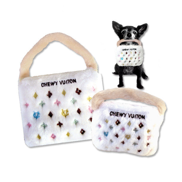 Chewy Vuiton Purse Dog Toy, , Toy, Small Dog Mall, Small Dog Mall - Good things for little dogs.  - 1