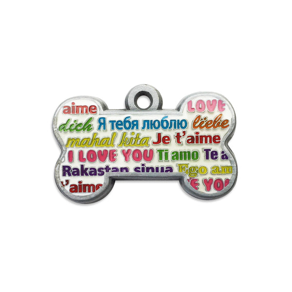 Love Bone Small Dog ID Tag