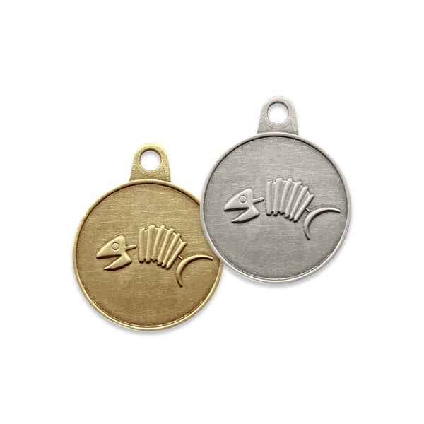 Dem Fish Bones Dog & Cat ID Tag