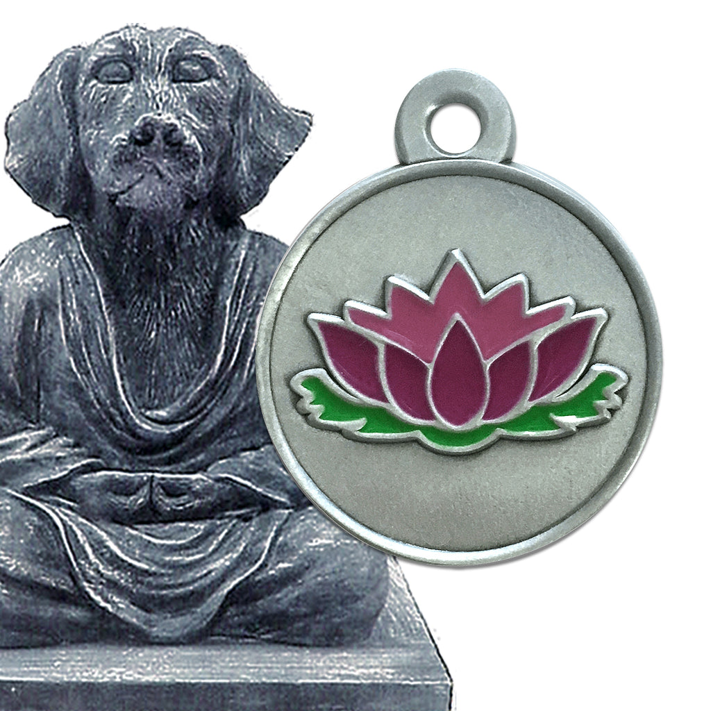 Lotus Flower Small Dog ID Tag