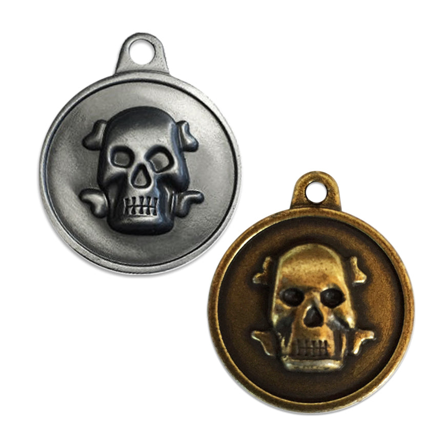 Bad to the Bone Skull Small Dog ID Tag