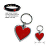 Red Enamel Heart Dog Collar Charm, , Collar Pendant, Small Dog Mall, Small Dog Mall - Good things for little dogs.  - 2