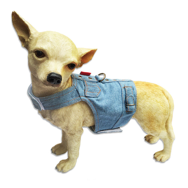 Small Dog Mall, Doggles® Denim Jean Jacket Style Small Dog Vest Harness