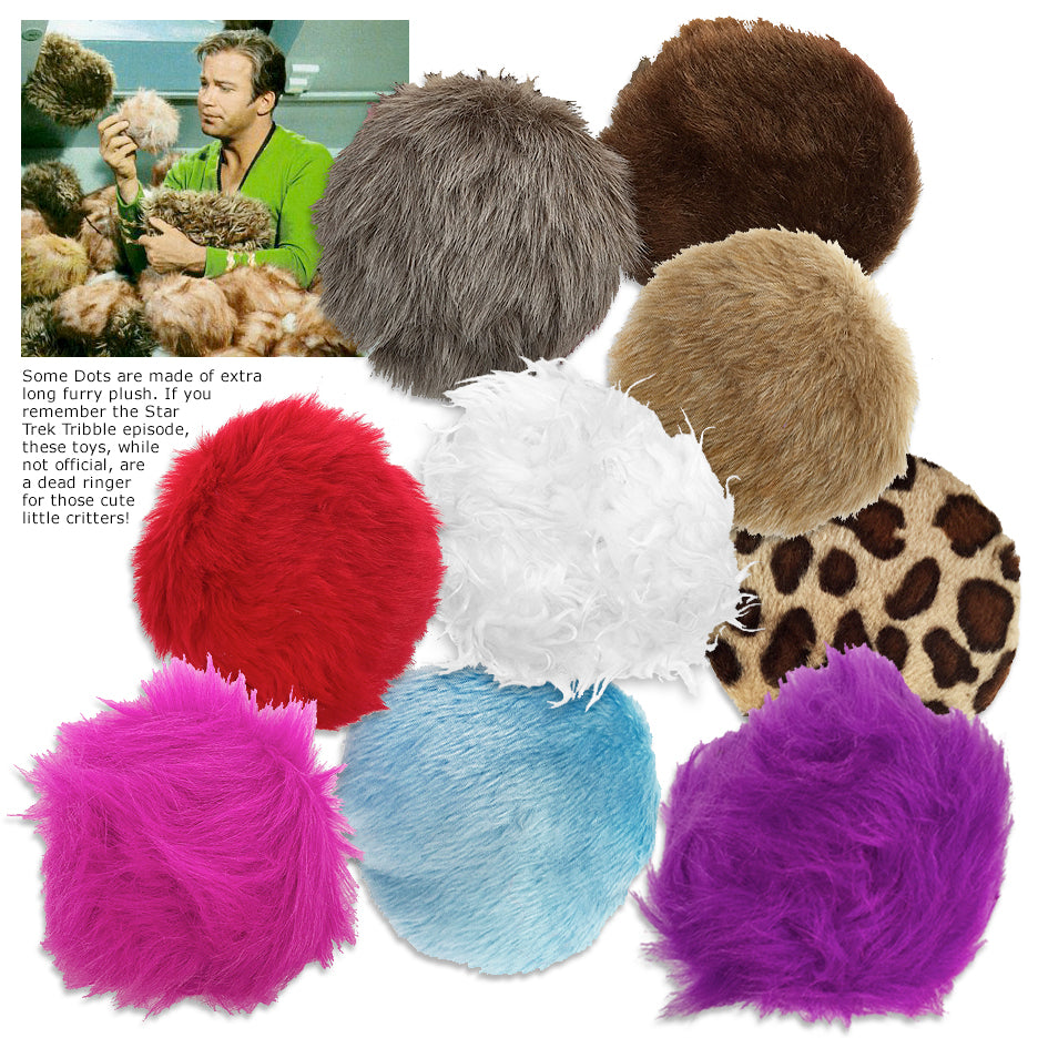 Fuzzy Dots Small Dog Toy, Could They Be Tribbles?