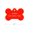 Jumbo Plastic Bone Shape Dog ID Tag