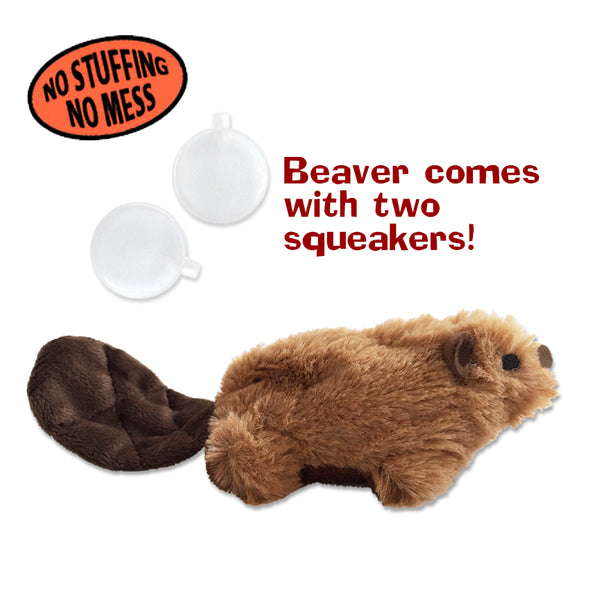 Adorable Kong No Stuffing X Small Beaver Dog Toy