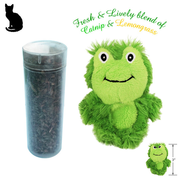 Kong Refillable Catnip & Lemongrass Frog Cat Toy