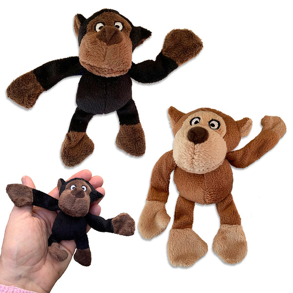 Loopies Tiny Plush Baby Gorilla Small Dog Toy