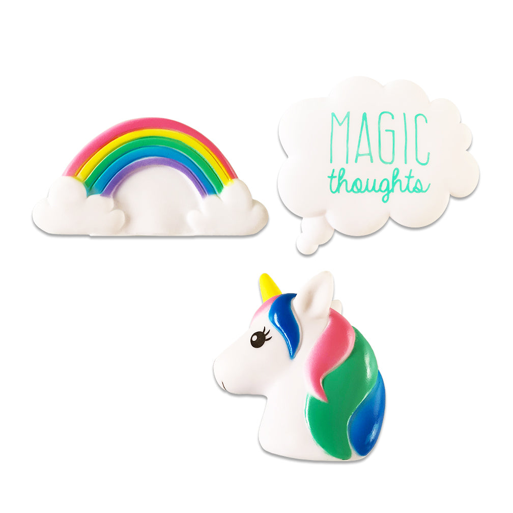 Magical Unicorn Trio Small Dog Toy