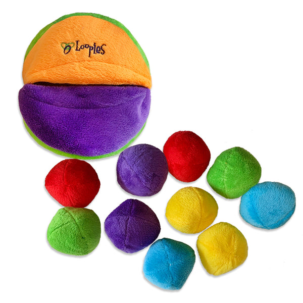 Loopies Bag-O-Balls Small Dog Toy