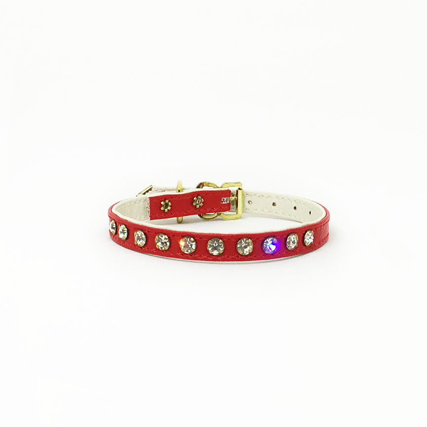 Red Crystal Collar Small Dog Collar