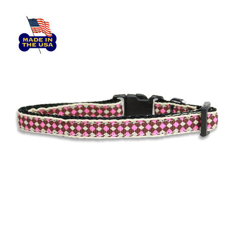 Pink Diamond Ribbon Dog Collar, , Collar, Small Dog Mall, Small Dog Mall - Good things for little dogs.  - 1