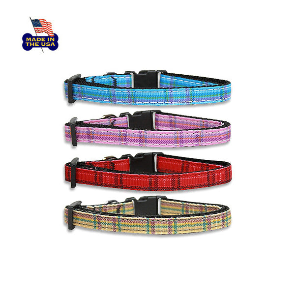 Mad for Plaid Dog Collars!, , Collar, Small Dog Mall, Small Dog Mall - Good things for little dogs.  - 1