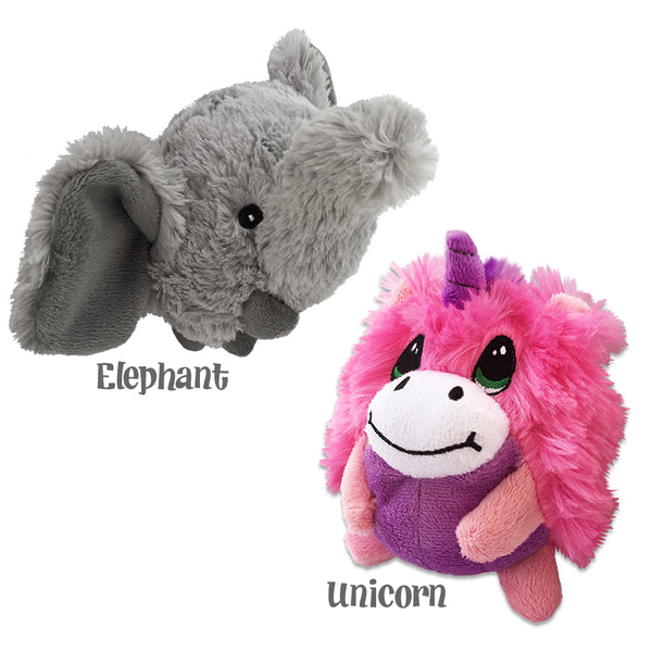 Rolli Polli Elephant and Unicorn Small Dog Toy