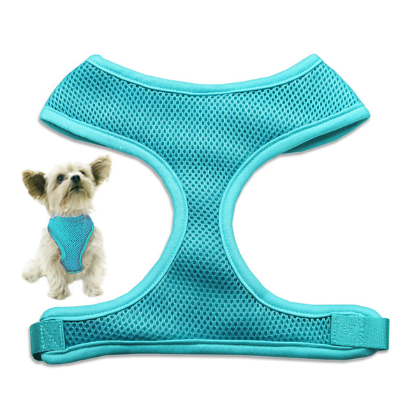 Light Blue Mesh Small Dog Harness