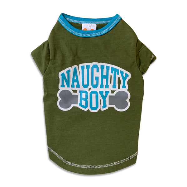 Naughty Boy Small Dog T-Shirt