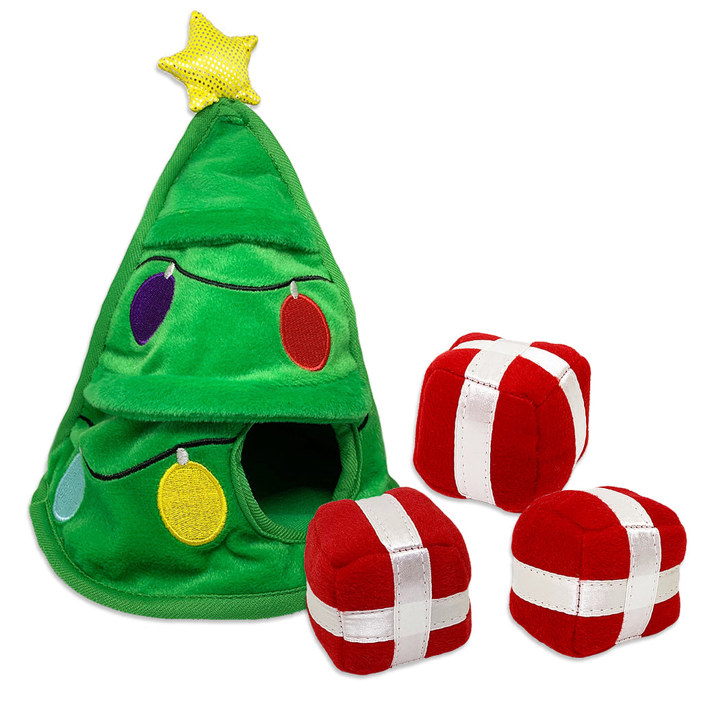 Holiday Tree Hide-A-Gift Small Dog Puzzle Toy