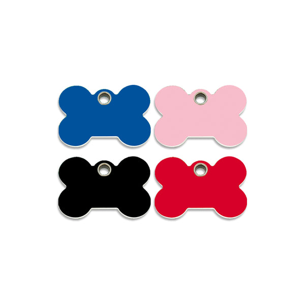 Red Dingo Plastic Bone Shape Dog Pet ID Tag
