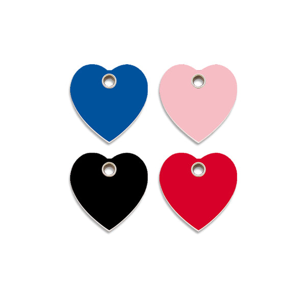 Red Dingo Plastic Heart Dog ID Tag