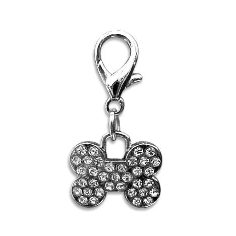 Bone Dog Collar Charm Paved in Crystal!, , Collar Pendant, Small Dog Mall, Small Dog Mall - Good things for little dogs.  - 1