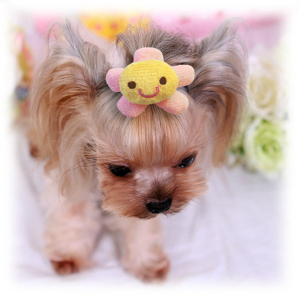 Happy Flower Small Dog Hair Barrette