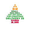 December 20 is the Shipping Cut Off date for Christmas Delivery