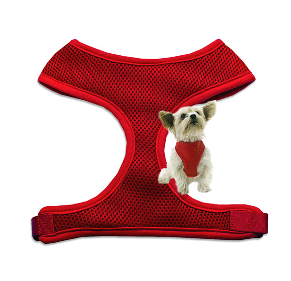 Red Mesh Small Dog Harness