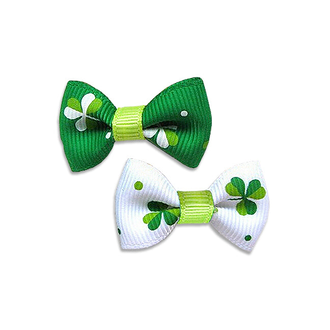 Lucky Shamrock Small Dog Hair Bow